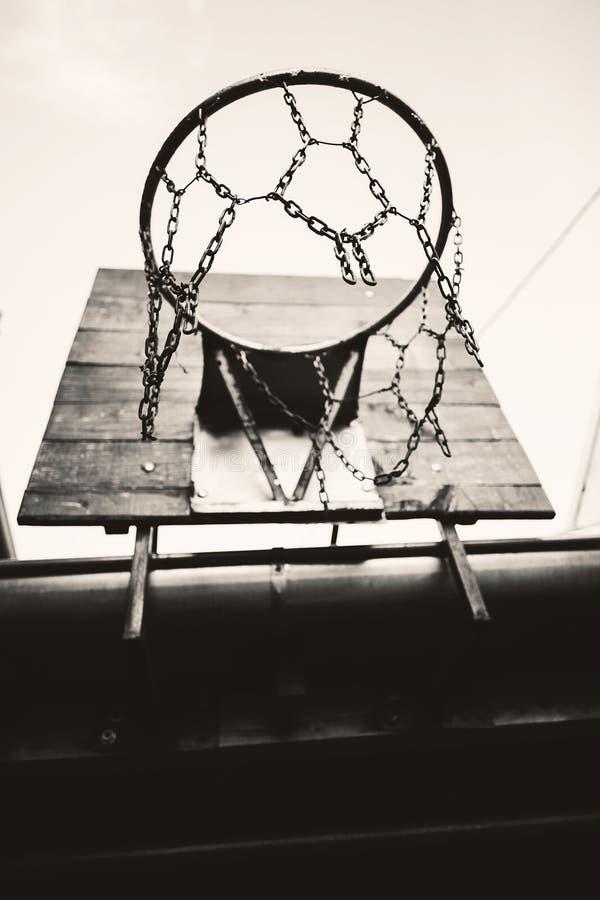 Στεφάνη καλαθοσφαίρισης κατωφλιών στοκ εικόνα