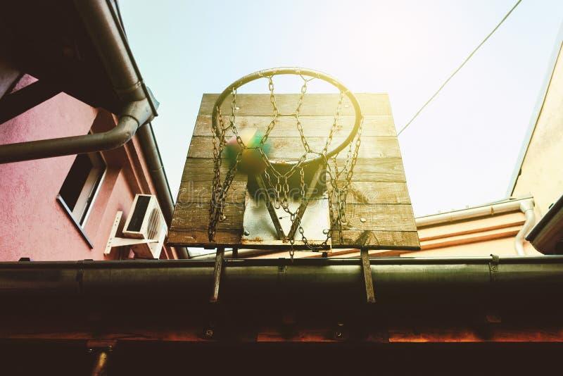 Στεφάνη καλαθοσφαίρισης κατωφλιών στοκ εικόνες με δικαίωμα ελεύθερης χρήσης
