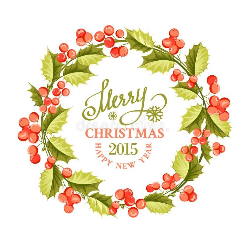 Στεφάνι γκι Χριστουγέννων απεικόνιση αποθεμάτων