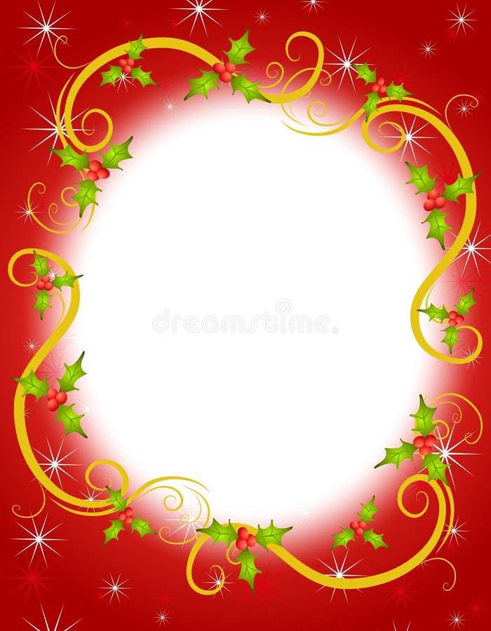στεφάνι ελαιόπρινου πλαισίων Χριστουγέννων 2 ελεύθερη απεικόνιση δικαιώματος