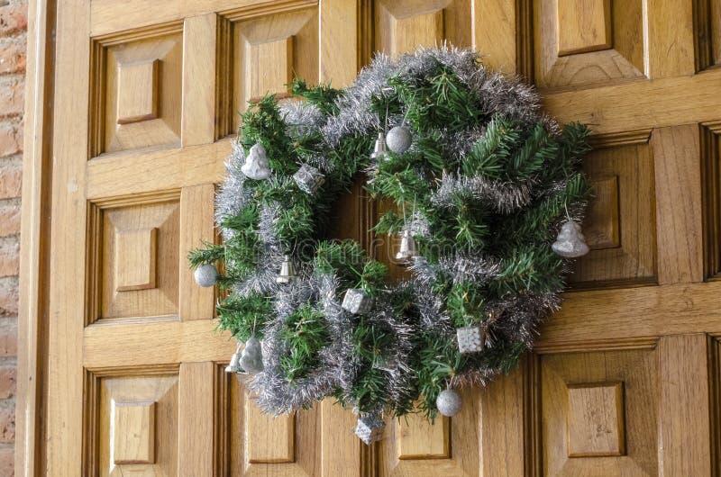 Στεφάνι εμφάνισης διακοπών Χριστουγέννων στοκ εικόνα με δικαίωμα ελεύθερης χρήσης