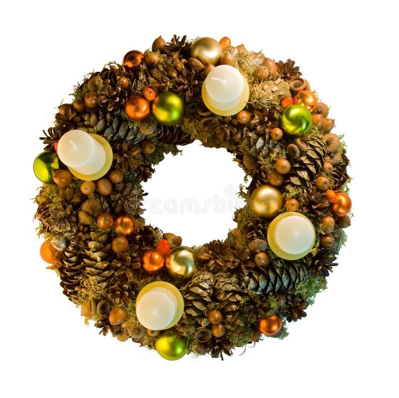 στεφάνι Χριστουγέννων στοκ εικόνα με δικαίωμα ελεύθερης χρήσης