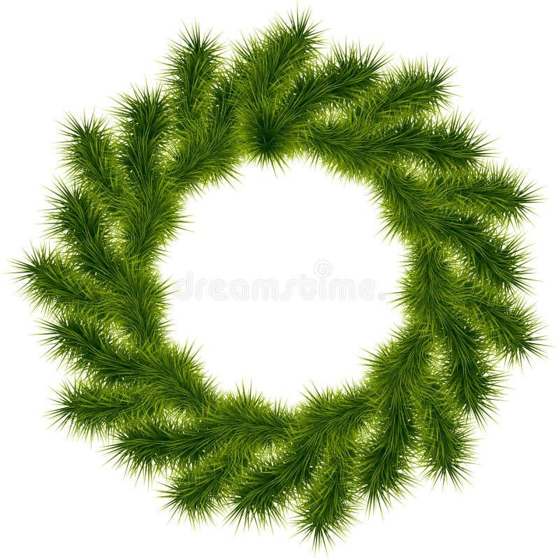 στεφάνι Χριστουγέννων διανυσματική απεικόνιση