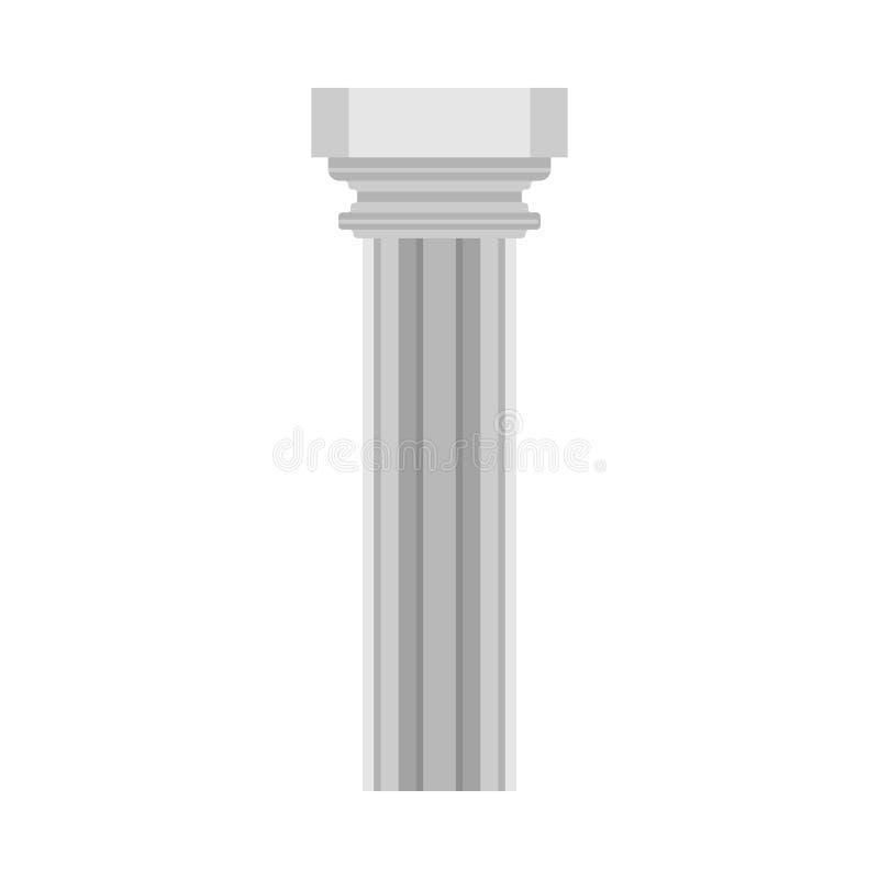 Στηλών ιστορίας κλασσικό συμβόλων διανυσματικό εικονίδιο στοιχείων μνημείων αρχιτεκτονικό Επίπεδος φραγμός γλυπτών στυλοβατών εξω απεικόνιση αποθεμάτων