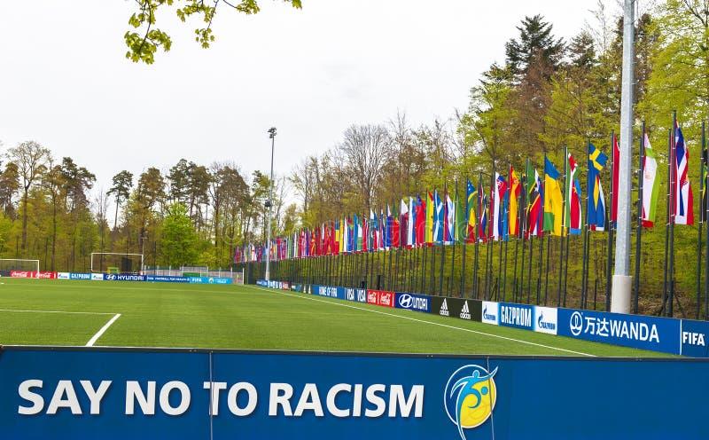 Στην έδρα της FIFA στοκ φωτογραφία με δικαίωμα ελεύθερης χρήσης