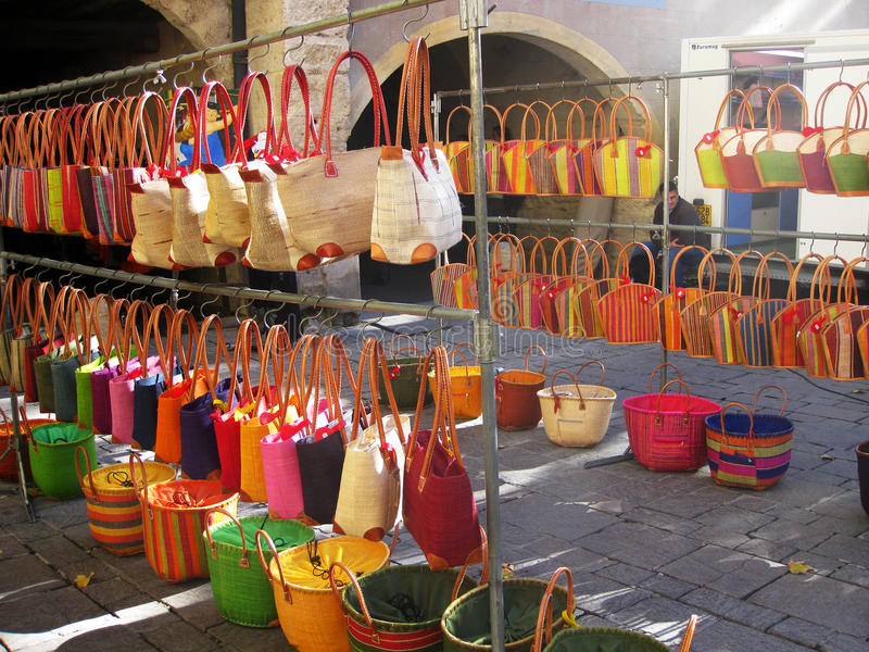 Στην αγορά στοκ εικόνα