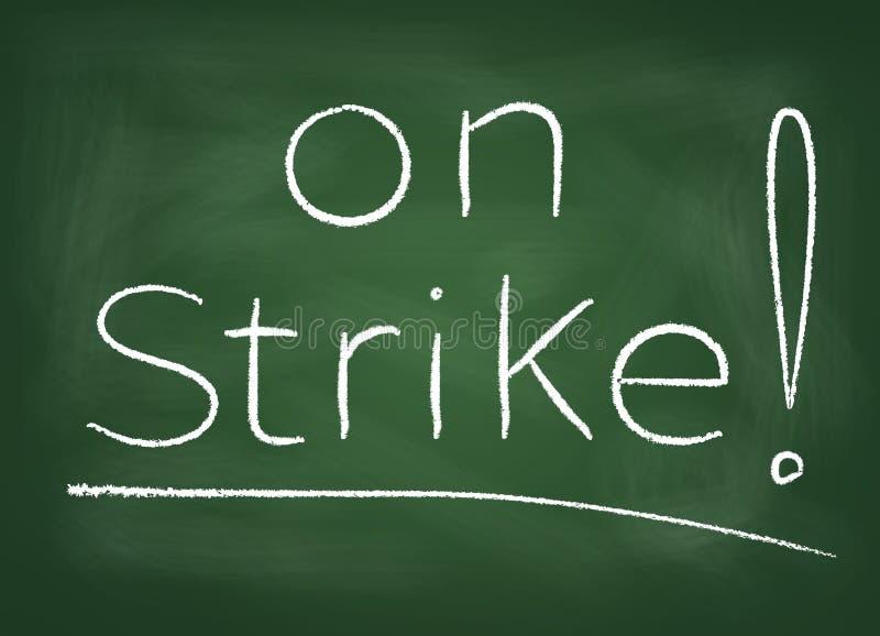 Στην απεργία διανυσματική απεικόνιση
