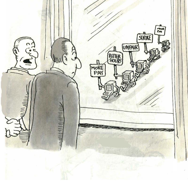 Στην απεργία απεικόνιση αποθεμάτων