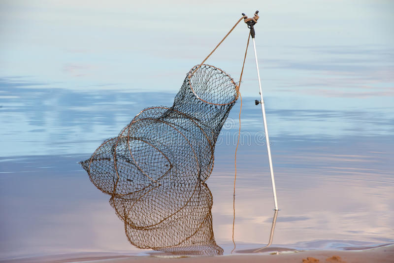 Στην αλιεία βραδιού στοκ εικόνα