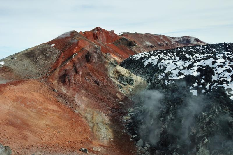 Στην κορυφή του ηφαιστείου Avachinsky Kamchatka Krai στοκ φωτογραφία με δικαίωμα ελεύθερης χρήσης