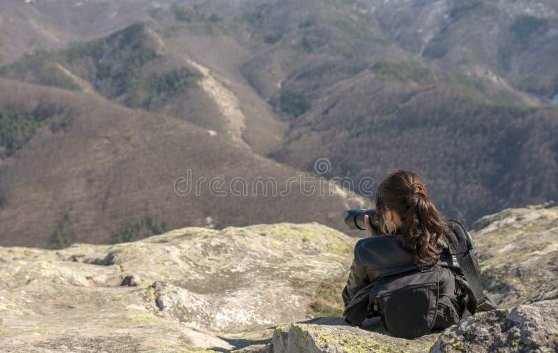 Στην κορυφή Belintash στοκ φωτογραφία