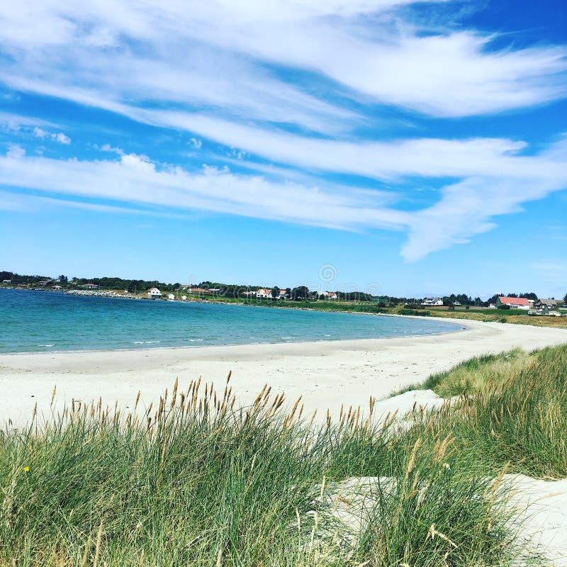 Στην παραλία, Sande στο Randaberg, Νορβηγία στοκ φωτογραφίες με δικαίωμα ελεύθερης χρήσης