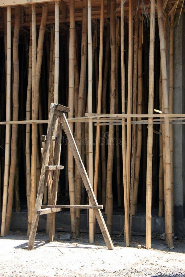 Στηρίγματα κατασκευής μπαμπού στοκ φωτογραφίες με δικαίωμα ελεύθερης χρήσης
