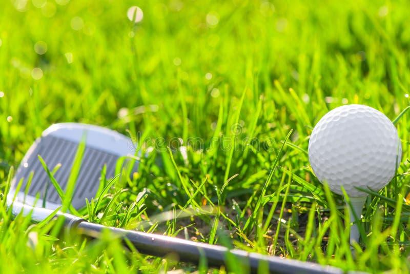 Στηρίγματα πυροβολισμού για το γκολφ στοκ εικόνες