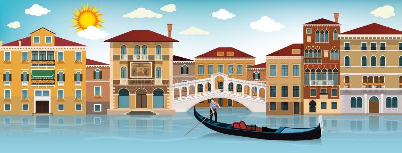 Στη Βενετία διανυσματική απεικόνιση