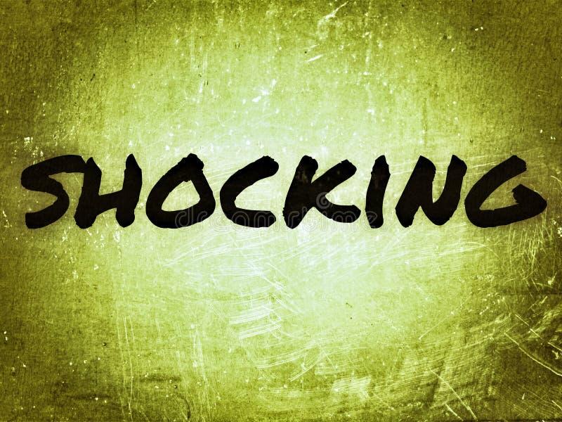 στη γραμματοσειρά black color, η αγγλική λέξη shoking in simple font στοκ φωτογραφία με δικαίωμα ελεύθερης χρήσης
