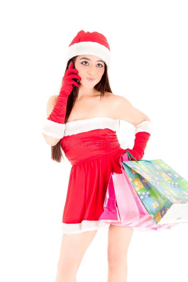 Στη ψηφιακή εποχή κα Santa στοκ φωτογραφίες με δικαίωμα ελεύθερης χρήσης
