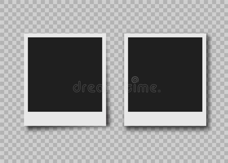 Στιγμιαίο πλαίσιο φωτογραφιών διανυσματική απεικόνιση