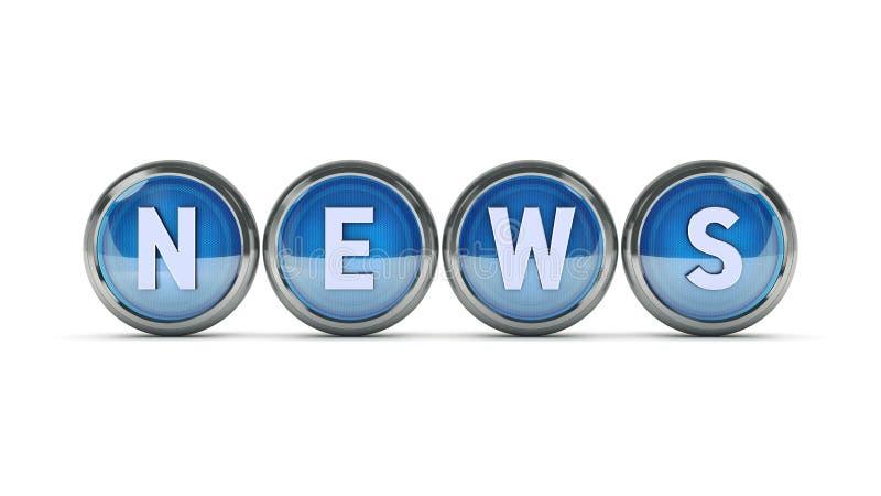Στιλπνές ειδήσεις εικονιδίων τρισδιάστατη απόδοση απεικόνιση αποθεμάτων