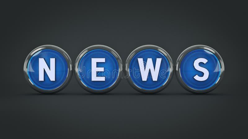 Στιλπνές ειδήσεις εικονιδίων τρισδιάστατη απόδοση διανυσματική απεικόνιση