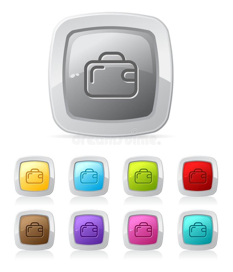 στιλπνή βαλίτσα κουμπιών ελεύθερη απεικόνιση δικαιώματος