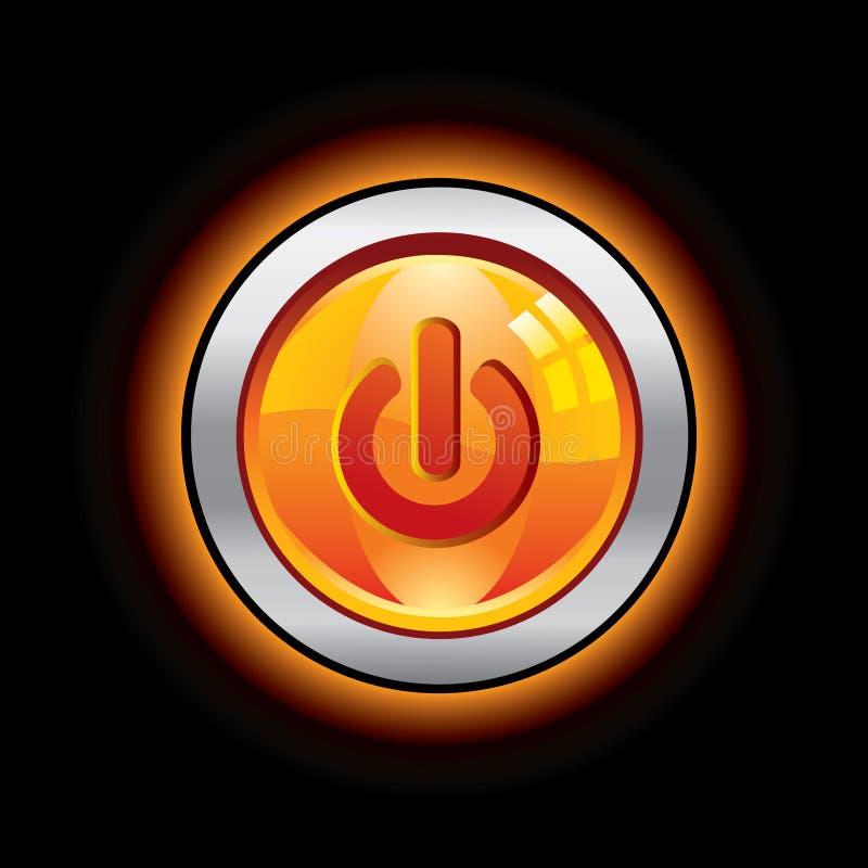 στιλπνή ισχύς κουμπιών διανυσματική απεικόνιση
