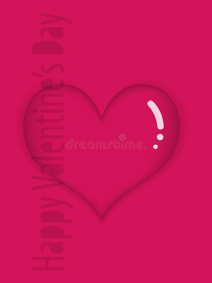 Στιλπνή κόκκινη καρδιά διανυσματική απεικόνιση