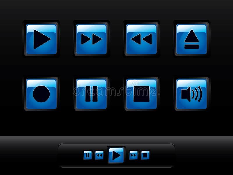στιλπνή συσκευή αναπαρα&ga διανυσματική απεικόνιση