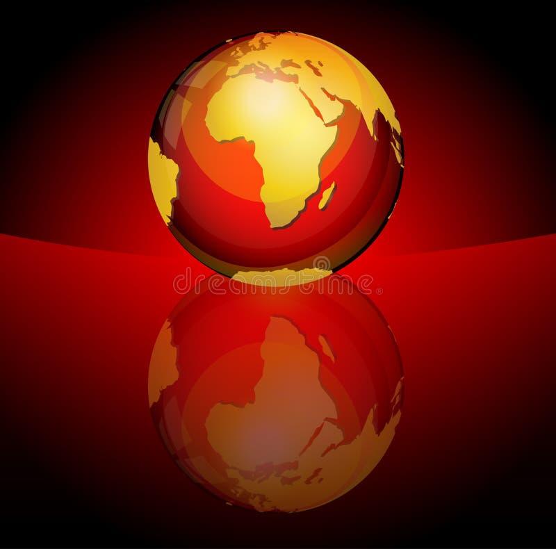 στιλπνή σφαίρα πλανητών ελεύθερη απεικόνιση δικαιώματος