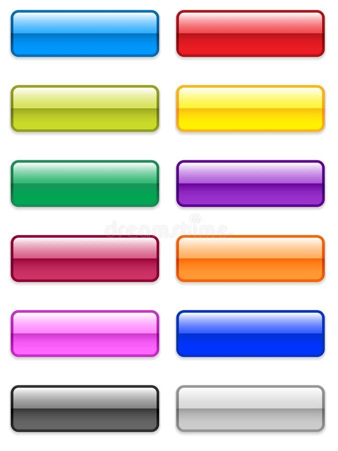 στιλπνός μεγάλος κουμπι διανυσματική απεικόνιση