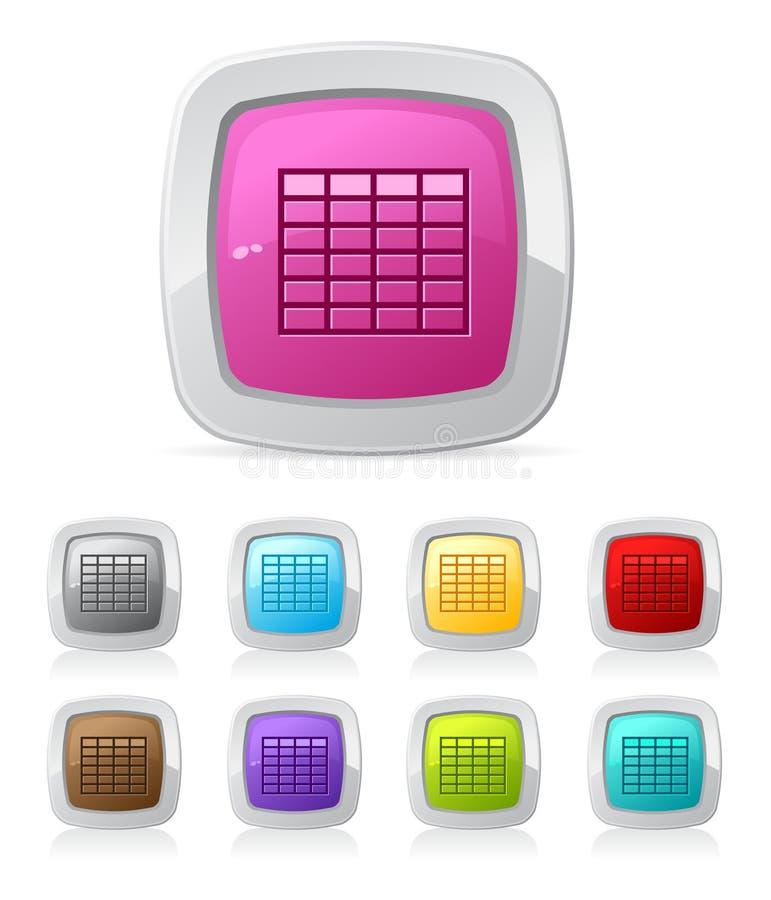 στιλπνός πίνακας κουμπιών απεικόνιση αποθεμάτων