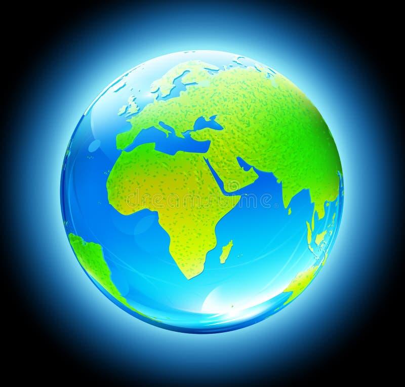 στιλπνός χάρτης γήινων σφαι& διανυσματική απεικόνιση
