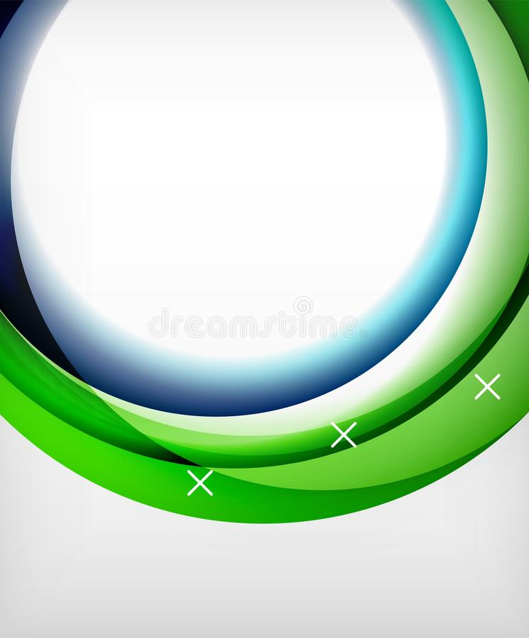 Στιλπνό διανυσματικό υπόβαθρο κυμάτων με τα αποτελέσματα φωτός και σκιών, άσπρες διαγώνιες μορφές ελεύθερη απεικόνιση δικαιώματος