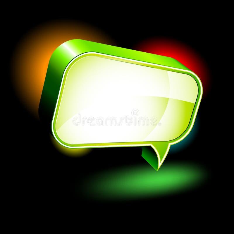 Στιλπνό κιβώτιο συνομιλίας απεικόνιση αποθεμάτων