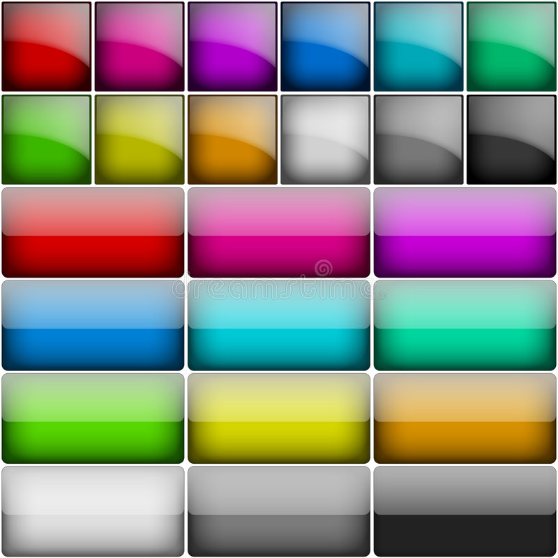 στιλπνό τετράγωνο κουμπιώ& απεικόνιση αποθεμάτων