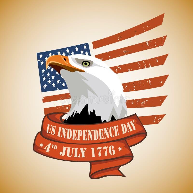 Στις 4 Ιουλίου ΑΜΕΡΙΚΑΝΙΚΗΣ ημέρας της ανεξαρτησίας στοκ φωτογραφία με δικαίωμα ελεύθερης χρήσης