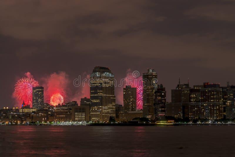 Στις 4 Ιουλίου του Μανχάταν πόλεων της Νέας Υόρκης στοκ φωτογραφία με δικαίωμα ελεύθερης χρήσης