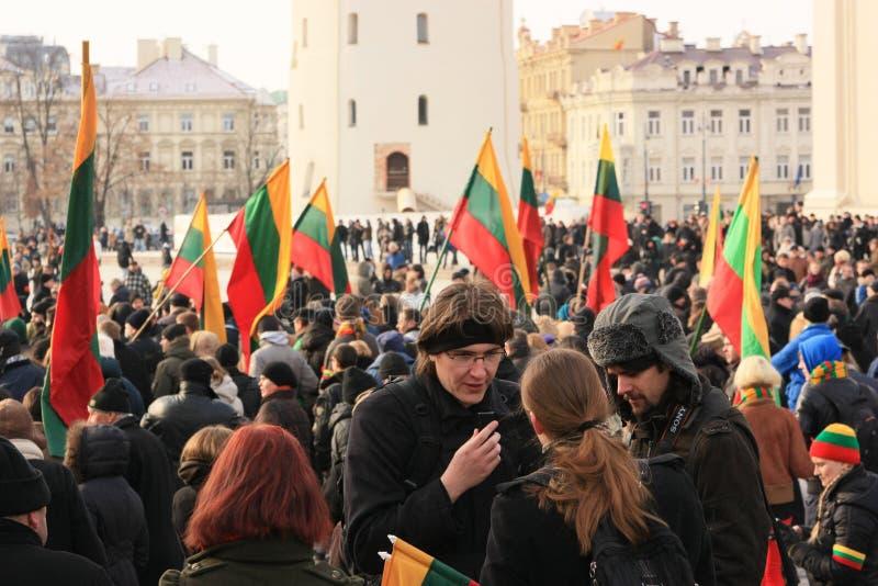 Στις 11 Μαρτίου της Λιθουανίας στοκ φωτογραφία