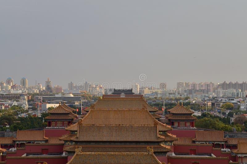 Στις 29 Οκτωβρίου 2017 στο Hill Chunting εκατομμύριο Jingshan στοκ εικόνες