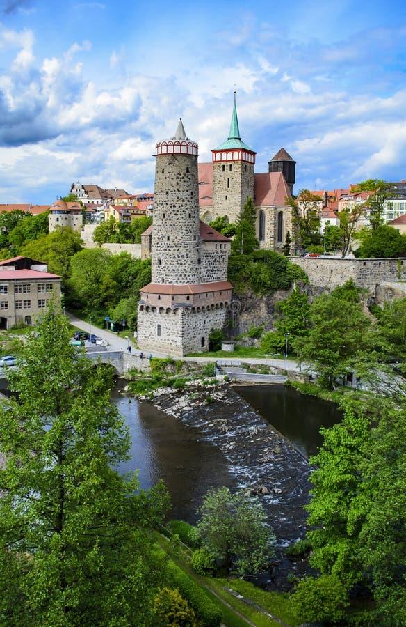 Στις τράπεζες του ξεφαντώματος ποταμών στο Bautzen στοκ εικόνες