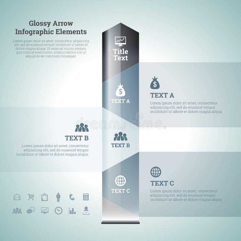 Στιλπνά στοιχεία Infographic βελών ελεύθερη απεικόνιση δικαιώματος