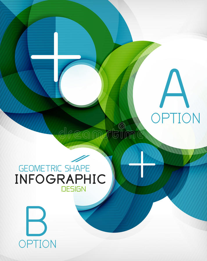 Στιλπνό υπόβαθρο πληροφοριών μορφής κύκλων γεωμετρικό διανυσματική απεικόνιση