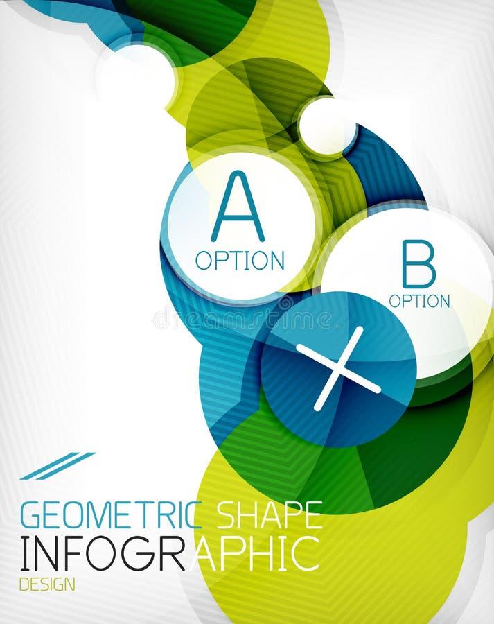 Στιλπνό υπόβαθρο πληροφοριών μορφής κύκλων γεωμετρικό ελεύθερη απεικόνιση δικαιώματος
