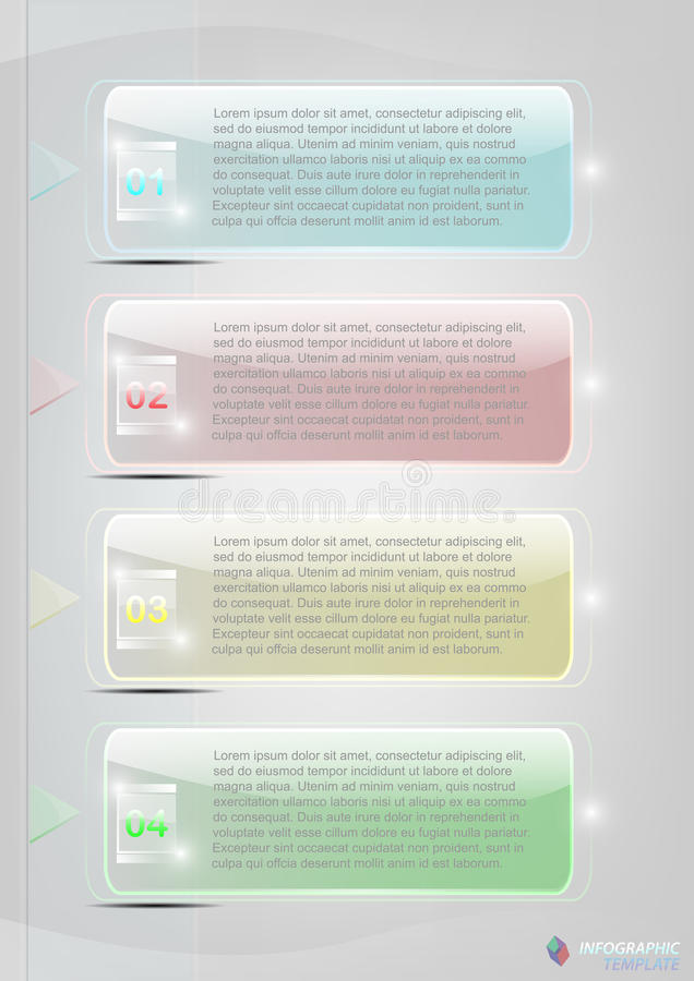 Στιλπνό φωτεινό infographic επιχειρησιακό πρότυπο κρητιδογραφιών απεικόνιση αποθεμάτων