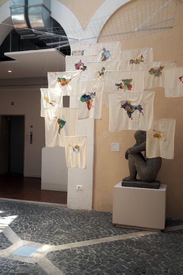 Στοά σύγχρονου και της σύγχρονης τέχνης στη Ρώμη, Ιταλία στοκ εικόνα
