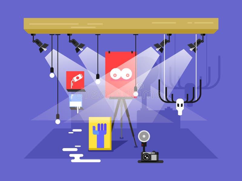 Στοά της σύγχρονης τέχνης ελεύθερη απεικόνιση δικαιώματος