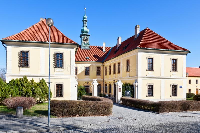 Στοά του Castle και πόλεων, Κλάντνο, κεντρική Βοημία, Τσεχία στοκ εικόνες