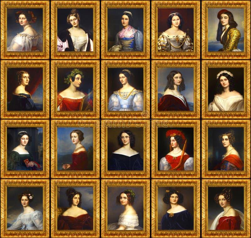 Στοά του Ludwig I's βασιλιάδων των ομορφιών. στοκ φωτογραφία