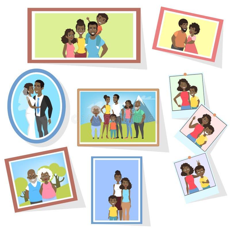 Στοά των οικογενειακών φωτογραφιών απεικόνιση αποθεμάτων