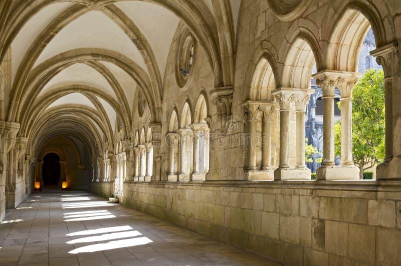 Στοά Alcobaca μοναστηριών στοκ φωτογραφίες